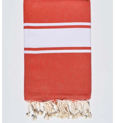 Fouta Plate rouge coquelicot
