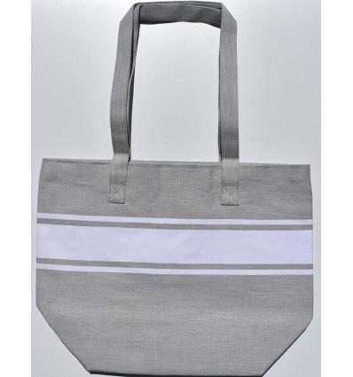 borsa da spiaggia grigio