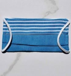 Mascherina Protettiva per bambini blu con strisce
