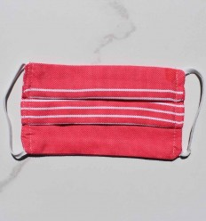 Mascherina Protettiva per bambini rosa con strisce