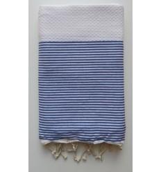 fouta nido d'appe bianche righe blu
