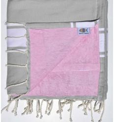 Telo mare spugna argilla e rosa chiaro