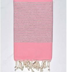 Telo mare lurex rosa chiaro