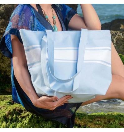 borsa da spiaggia blu chiaro