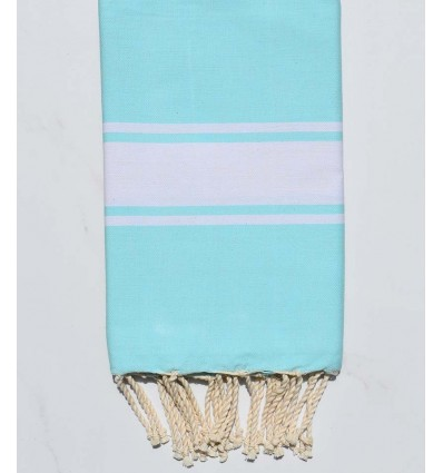 Fouta Plate bleu turquoise