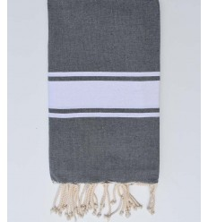 Fouta Plate gris plomb