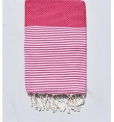 Fouta rosa lampone