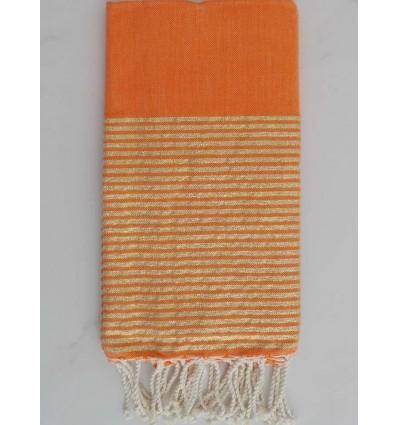 Fouta Lurex arancione