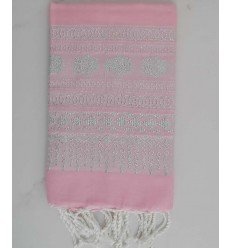 Fouta khomsa rosa chiaro
