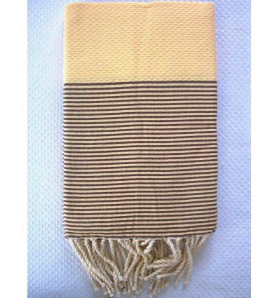 Fouta crema righe marrone