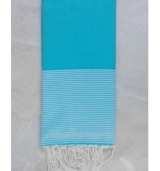 Grande fouta blu turchese