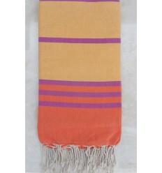 Grande fouta arancione, giallo e viola