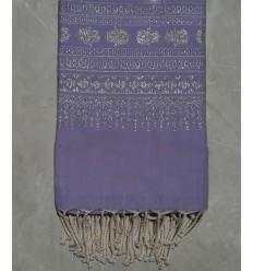 Fouta khomsa viola lavanda
