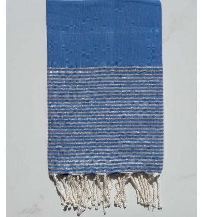 Fouta Lurex cobalto