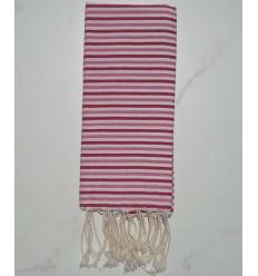 Fouta ziwane rosa chiaro, rosa scuro e bianco