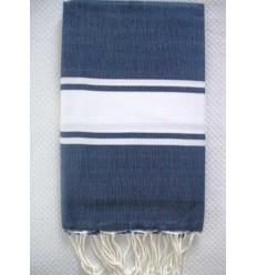 Fouta Plate bleu jean