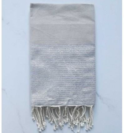FOUTA Lurex tan