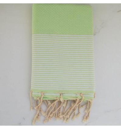 telo mare nido d'ape verde losanga