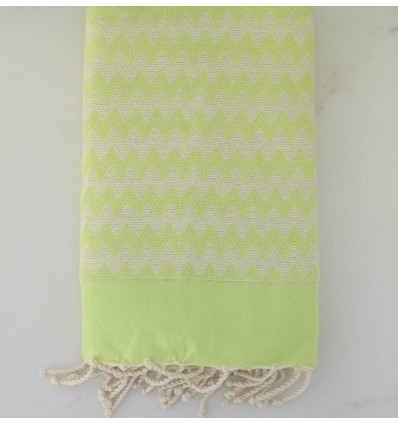 Fouta zigzag verde lime