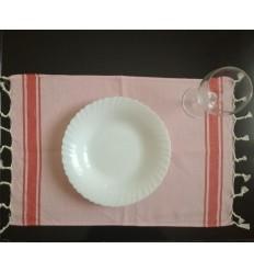mini fouta rosa chiaro