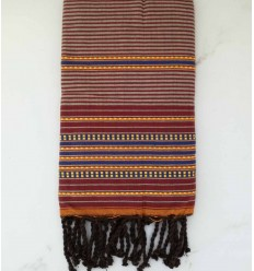 Fouta arabesca Bordeaux