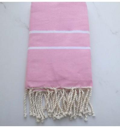 fouta chevron rosa chiaro
