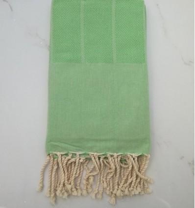 fouta chevron verde chiaro
