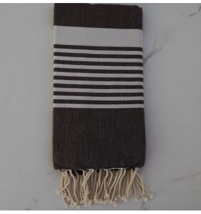 Fouta arturo marrone scuro