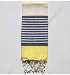 Toale mare Bambino giallo, ardesia, blu scuro e bianco sporco