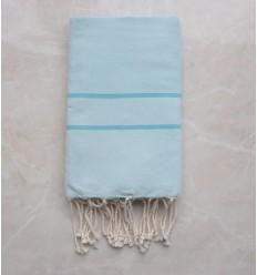 Fouta chevron blu chiaro a strisce blu