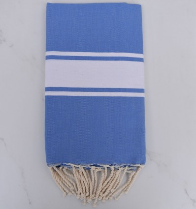 Fouta Plate bleu électrique