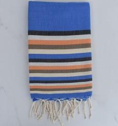 Fouta piatta 6 colori blu, antracite, grigio chiaro, arancio, bistro leggero e crema