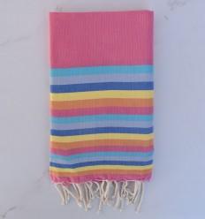 Fouta piatta 6 colori rosa, azzurro, blu grigio, blu, giallo e arancione