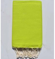 Fouta nido d'ape unito verde lime