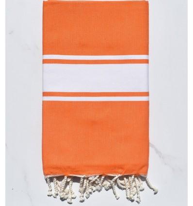 Fouta piatta arancione vivo