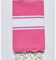 Telo mare Fouta piatta chewing gum rosa