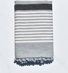 Fouta bianco sporco, grigio e antracite