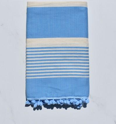 Fouta crema bianca e blu