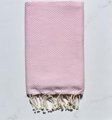 telo mare nido d'ape unita rosa molto chiaro