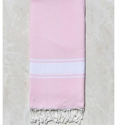 grande fouta rosa chiaro