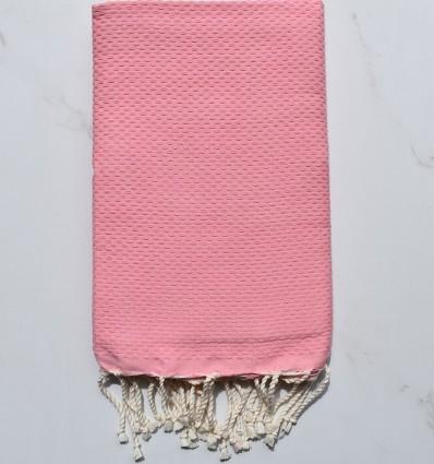 telo mare nido d'ape unita rosa pastello chiaro