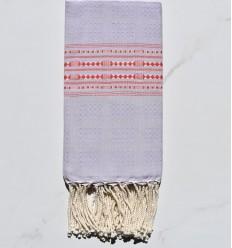 Fouta thalasso lavanda leggera con motivi rossi