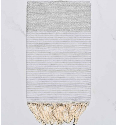 telo mare nido d'ape grigio molto chiaro