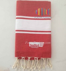 Fouta ricamato Sea Bird