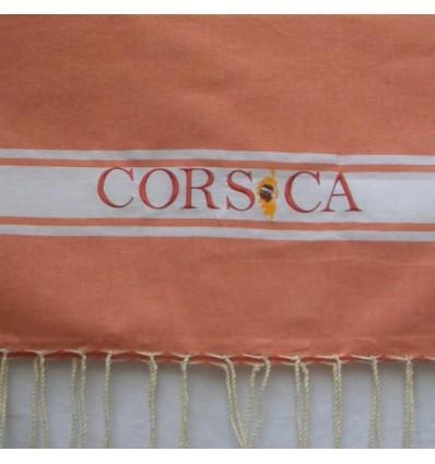 Ricamo Corsica salmone scuro