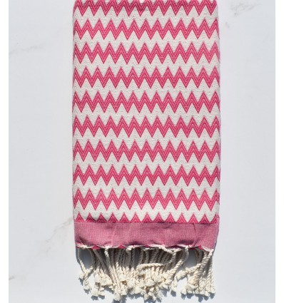 Fouta zigzag rosa
