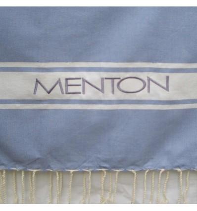 Ricamo Menton blu