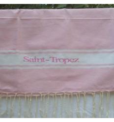 Ricamo Saint-Tropez rosa chiaro