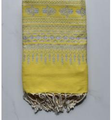 Fouta khomsa giallo