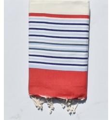 Telo mare 5 colori bianco sporco, rosso, blu fumo, blu e grigiastro